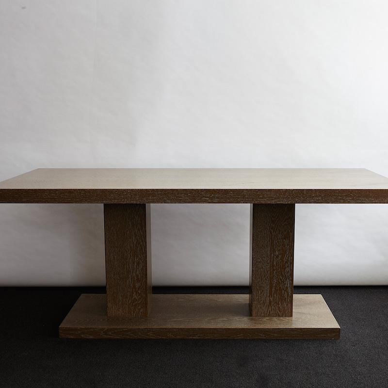 Bespoke Rectangular Limed Oak Table Design Consigned