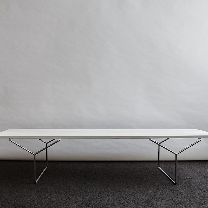 Knoll-White-8-Slat-Bench-1