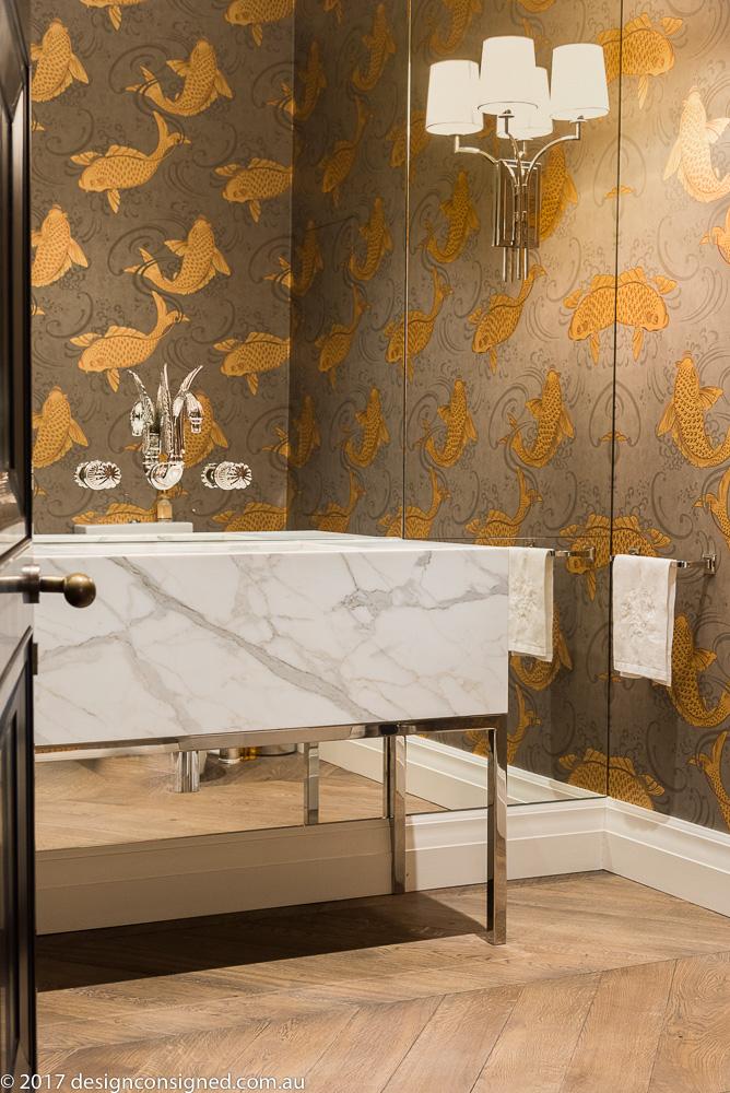 custom marble vanity