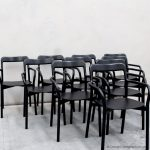 10 black dining chairs from Mattiazzi Italy