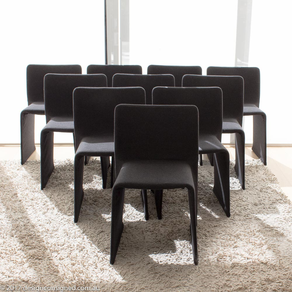 set of ten Molteni glove chairs