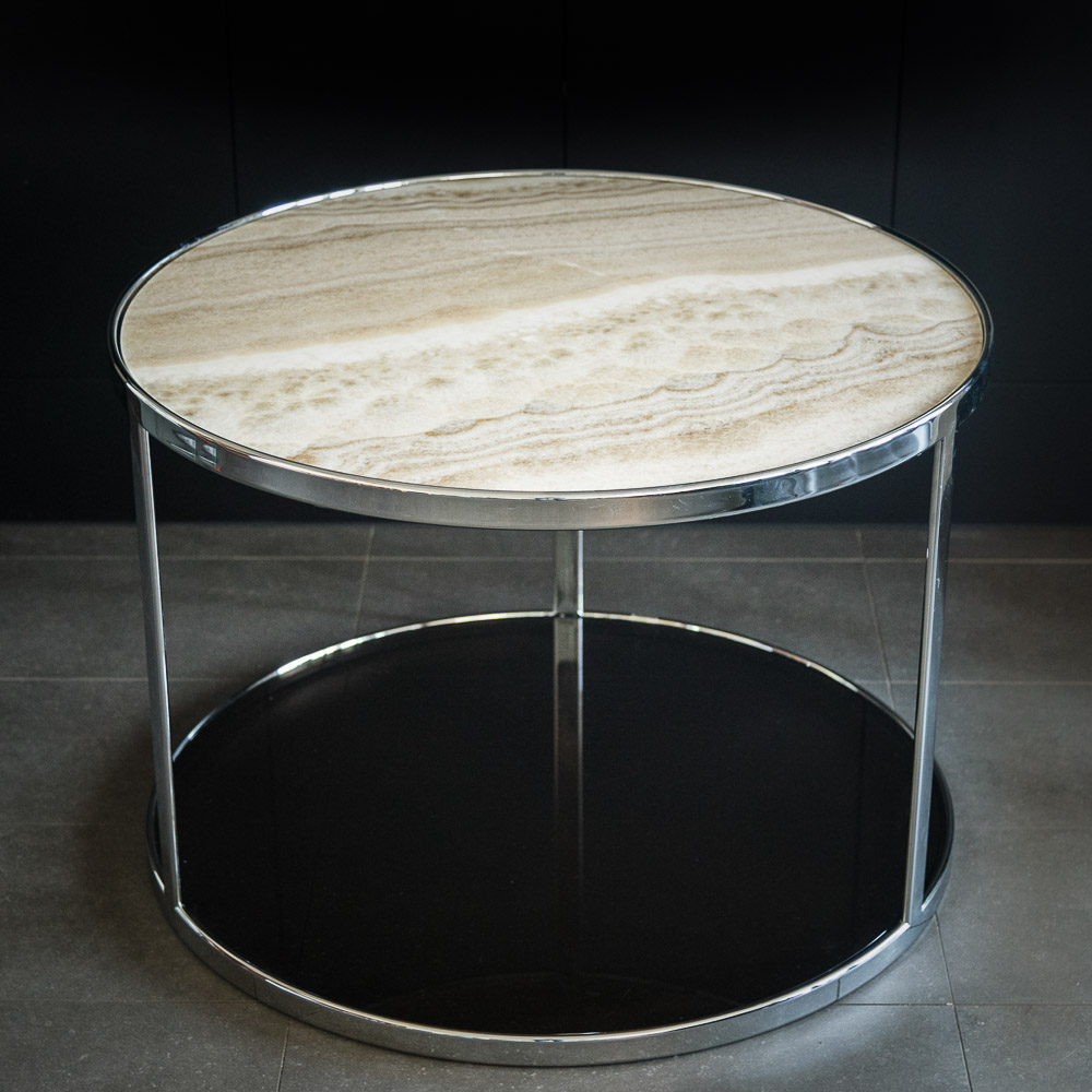 Minotti huber side table design consigned for Minotti coffee table