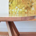 solid American oak table
