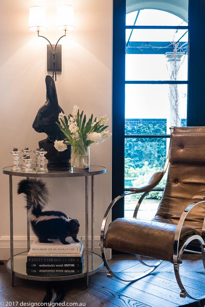 bent-steel vintage chair