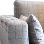 jardan sofa in grey wool plaid detail