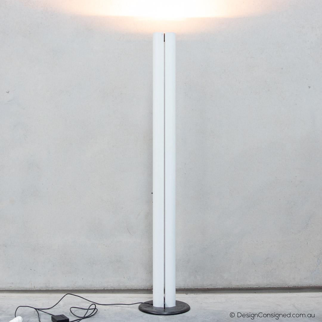 Artemide 1980 megaron ivory floor lamp