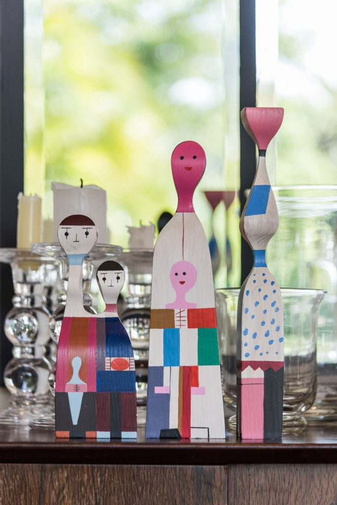 Wooden doll family by Alexander Girard for Vitra