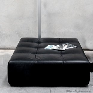 BBItalia Tufty Time leather ottoman by Patricia Urquiola