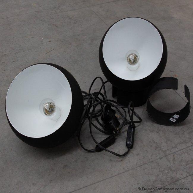 black lamp at www.designconsigned.com.au