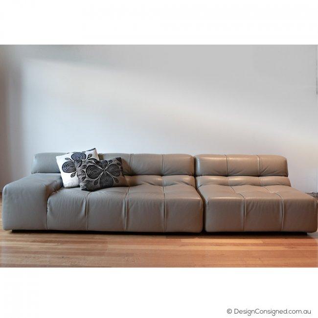 Tufty time leather sofa