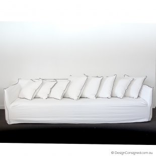 white slip cover sofa
