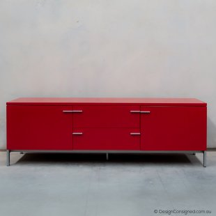 modern red sideboard cabinet