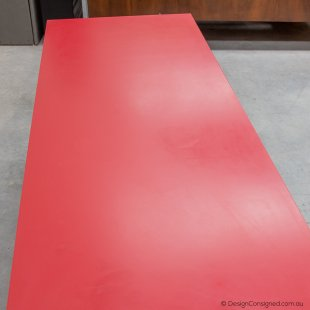 low sideboard red