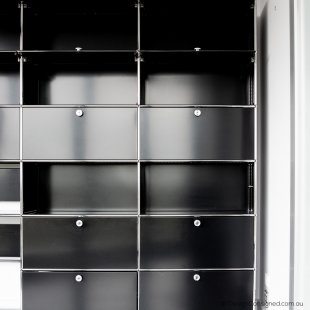 USM shelving storage cabinet black