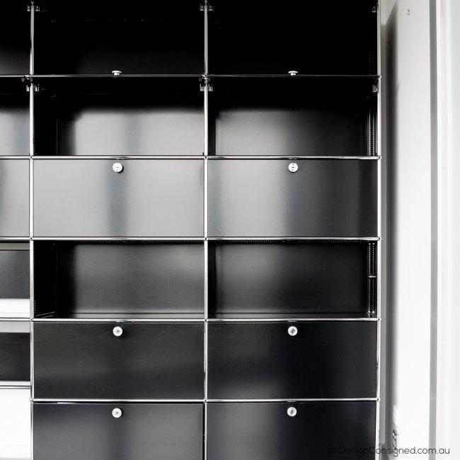 USM shelving storage cabinet black