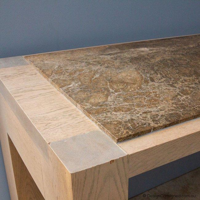 designer high bar table w marble