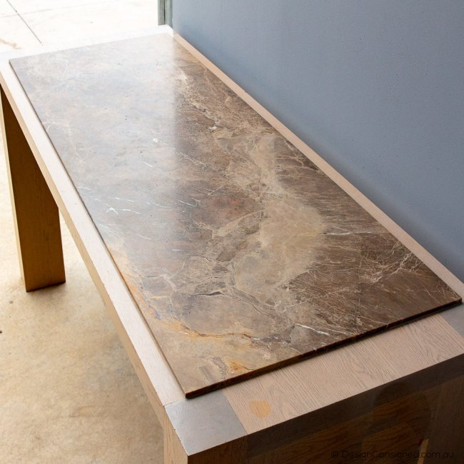bar table with marble top