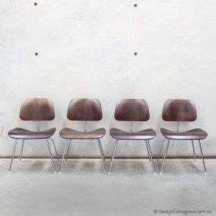 Eames plywood chair set of 4 walnut