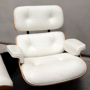 Eames white lounge chair