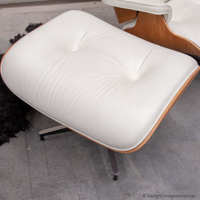 Eames leather lounge and ottoman
