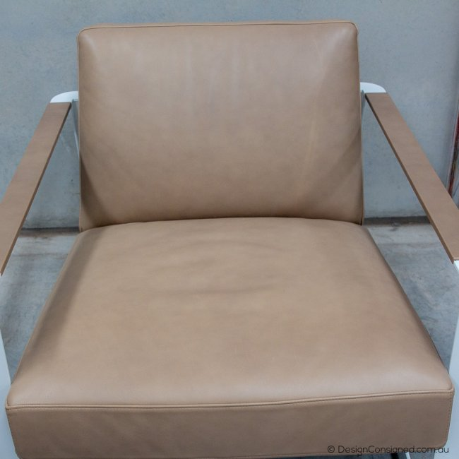 poliform leather chair
