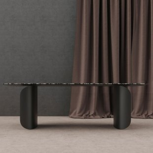 Barry walnut dining table by Alain Gilles for miniforms Italy
