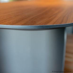 walnut dining table at Design Consigned