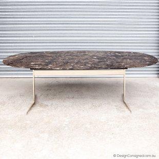 Flexform Fly oval table by Antonio Citterio
