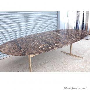 Flexform Fly emperador marble table