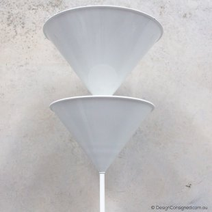 white floor lamp by Vico Magistretti