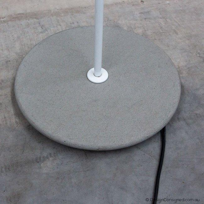 white pascal floor lamp