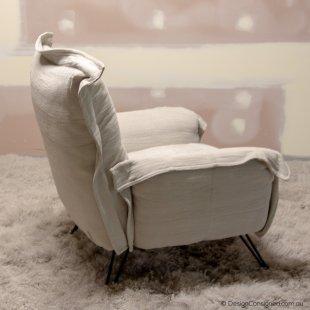 moroso linen armchair