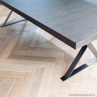 BBItalia MAX table grey oak by Antonio Citterio